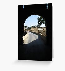 Arch way in Famagusta. Greeting Card