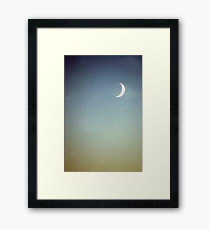 summer moon Framed Print