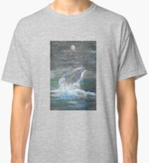 Dolphin Leap for the Moon Classic T-Shirt
