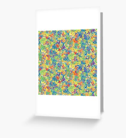 Colourful plants, rainbow Greeting Card