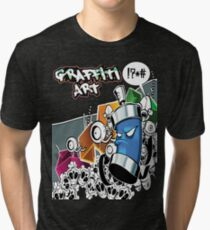 Graffiti Art Tri-blend T-Shirt