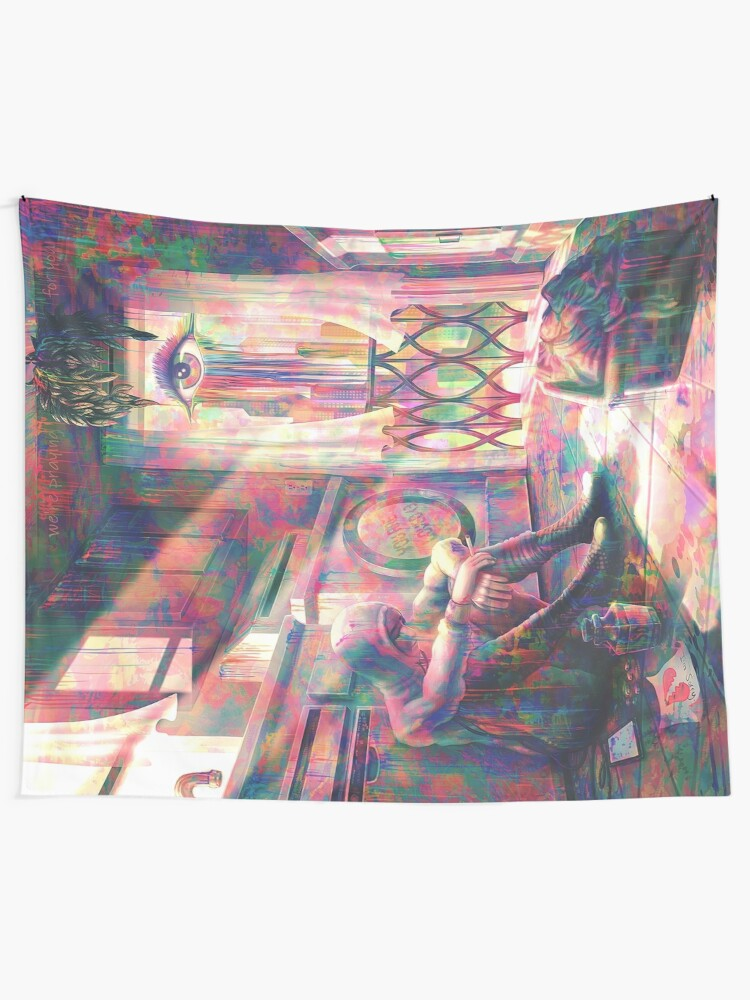 Alternate view of Cry me a Rainbow Tapestry