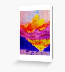 Vibrant sky line , watercolor Greeting Card