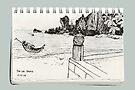 A Thai Beach Scene by James Lewis Hamilton