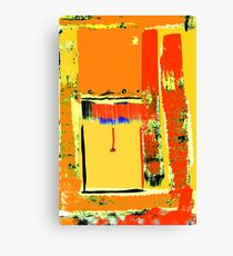 The open blind, St. Kilda ... Canvas Print