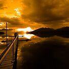 Sunset at Lake Te Anau. South Island, New Zealand. (3)  by Ralph de Zilva