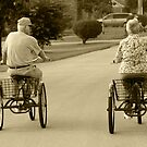 Mom and Dad Bike Riding by Kent Nickell