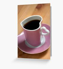 Date With Coffee Greeting Card