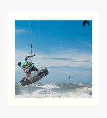 Kiteboarder Art Print