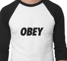 OBEY - Black Men's Baseball ¾ T-Shirt