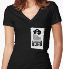 Pirate - Pocket Women's Fitted V-Neck T-Shirt