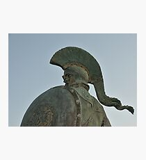 Statue of king Leonidas in Sparta, Greece  Photographic Print