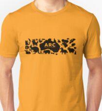 ARC Animals across Australia - black type Slim Fit T-Shirt