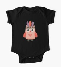 Hipster Owlet Purple v2 One Piece - Short Sleeve
