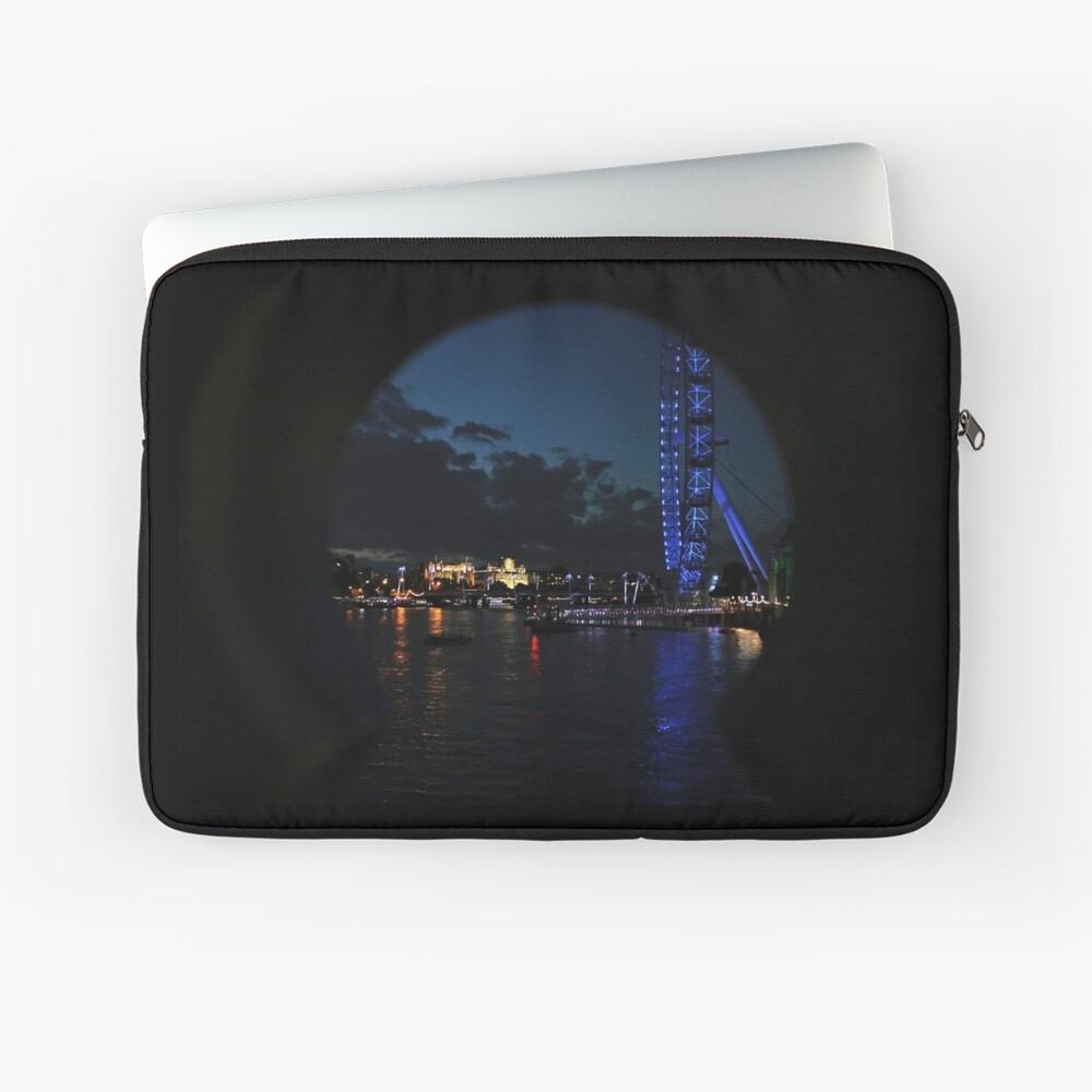 LONDON-AUGEN-THAMES PEEPHOLE Laptoptasche