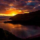 Camas nan Geall Sunset Ardnamurchan Scotland by Chris Thaxter