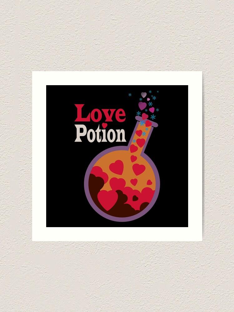 Alternate view of Love potion flask Art Print