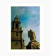 St George's Church & graveyard  Art Print