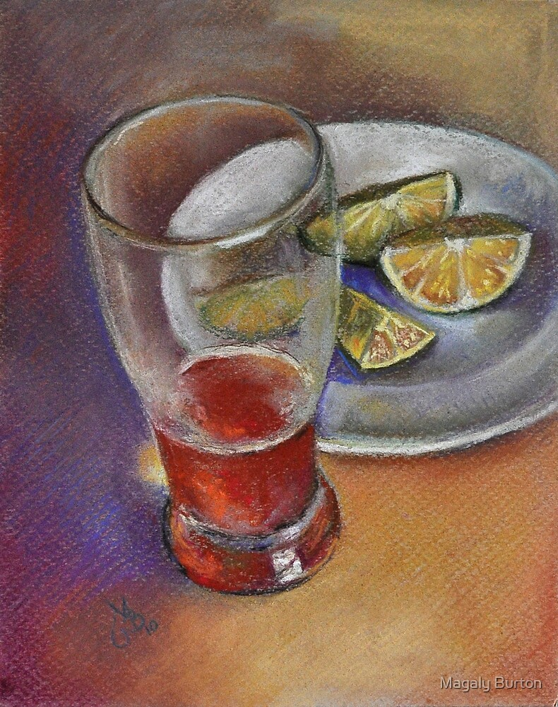 My favorite beer & limes by Magaly Burton