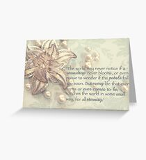 Every life touches the world Greeting Card