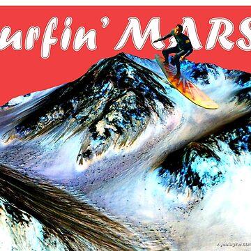 Surfin' Mars! by ayemagine