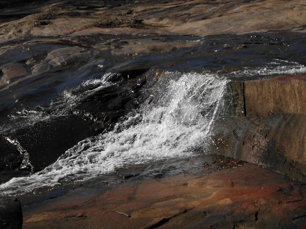 Aurora Slated Springs, Flat Rock by christi stephens