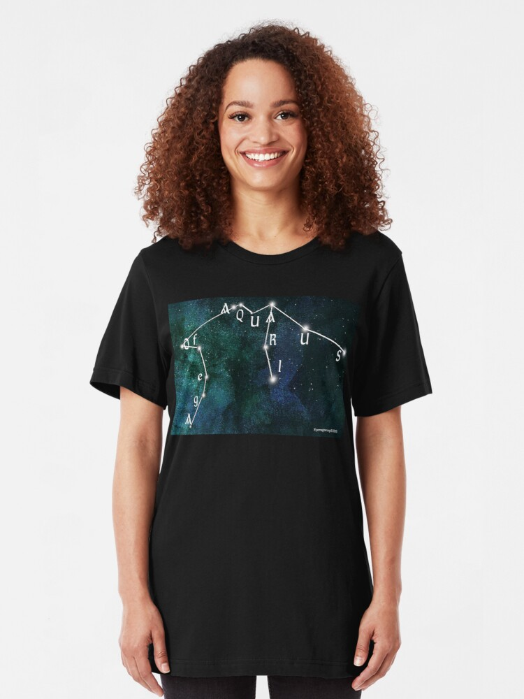 Alternate view of Age of Aquarius Slim Fit T-Shirt