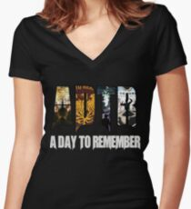 A Day To Remember  Women's Fitted V-Neck T-Shirt