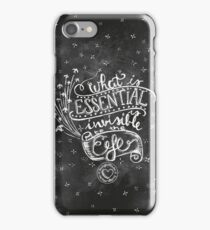 """""""What is essential is invisibile to the eye"""" Chalkboard art design iPhone Case/Skin"""
