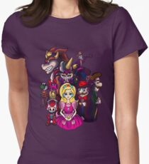 Peach in Mushroomland Womens Fitted T-Shirt
