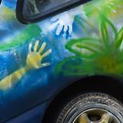Give us a hand with the old car. Bundaberg, Queensland, Australia by Fineli