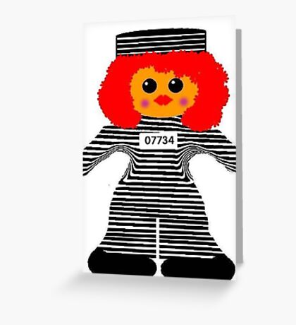 Jailhouse Rock Rag Doll Greeting Card