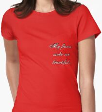 beautiful flaws Womens Fitted T-Shirt