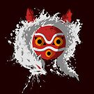 wolf princess mask by Harantula