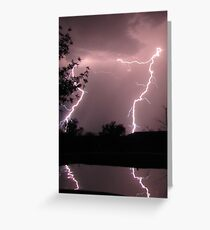 Monsoon Strike! ~ Double Trouble Reflection Greeting Card