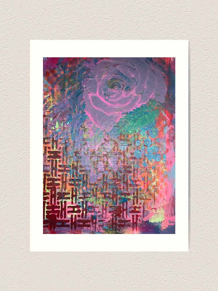 Alternate view of I Bloom in Stormy Weather  Art Print