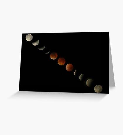 Blood Moon Lunar Eclipse Montage Greeting Card