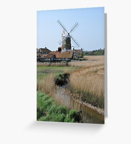 Cley Windmill and the River Glaven Greeting Card