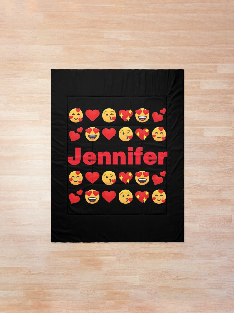 Alternate view of Jennifer Emoji My Love for Valentines day Comforter