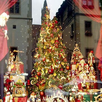 Christmas display with reflections of Rothenburg by akoene232