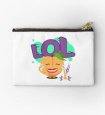 LOL Peach Emoji Cute Cartoon Laughing Zipper Pouch