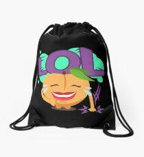 LOL Peach Emoji Cute Cartoon Laughing Drawstring Bag