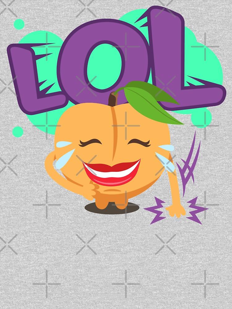 LOL Peach Emoji Cute Cartoon Laughing by el-patron
