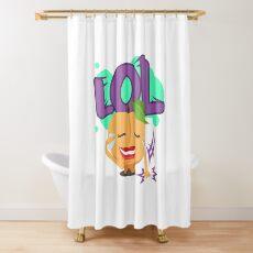 LOL Peach Emoji Cute Cartoon Laughing Shower Curtain
