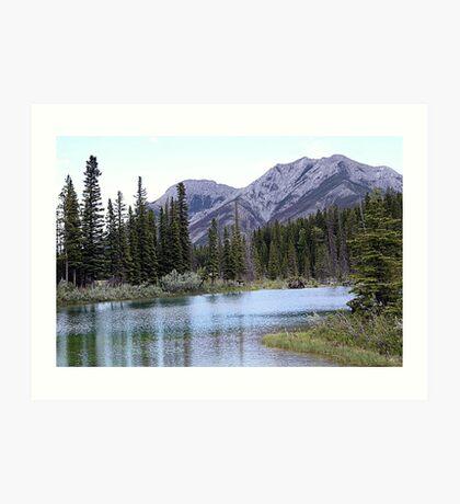 The Wedge & Wedge Pond Below Art Print