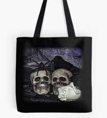 Bride and Groom Skulls Tote Bag