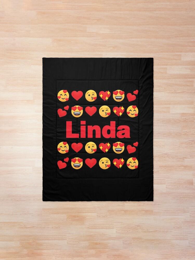 Alternate view of Linda Emoji My Love for Valentines day Comforter