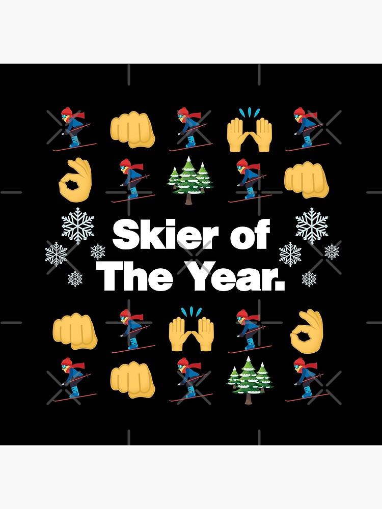 Skier of The Year Emoji Funny Skiing Saying by el-patron