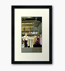 BERLIN STATIONBLUES II Framed Print