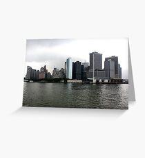 Tarjeta de felicitación Cloud city